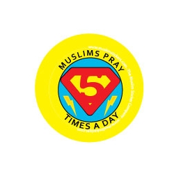 Button \'Muslims pray 5 times a day\'