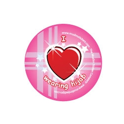 Button \'I Love wearing hijab\'