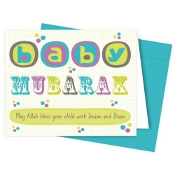 Geboortekaartje 'baby mubarak'