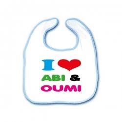 Slabbetje \' I love Abi & Oumi\'