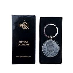 50 jaar kalender-sleutelhanger