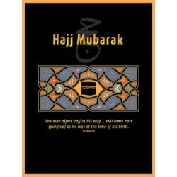 Kaartje opschrift Hajj Mubarak