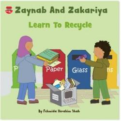 Zaynab and Zakariya learn to recycle