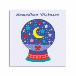Kaarte Ramadan Mubarak - Thema Sneeuwbol