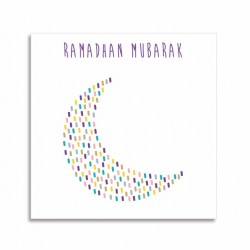 Ramadan Mubarak kaartje - Thema Maan