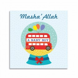 Kaartje Masha'Allah A Baby Boy - Thema Bus