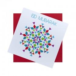 Kaartje Eid Mubarak - Thema Geometrie