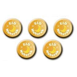 Eid Mubarak buttons goudkleurig (5-pack)