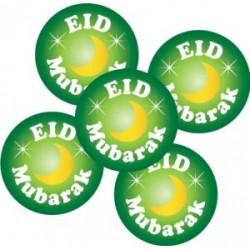 Eid Mubarak buttons groen (5-pack)