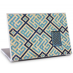 Laptopsticker Geometrie Blauw