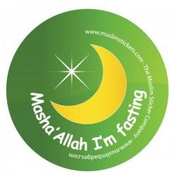 Button Masha'Allah I'm fasting
