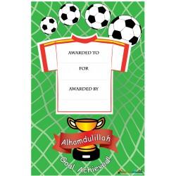 Beloningscertificaat - Thema Voetbal