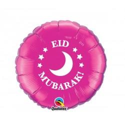 Folie ballon Eid Moebarak roze
