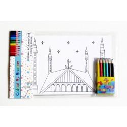 Kleurplaatjes moskee (inclusief potloden)