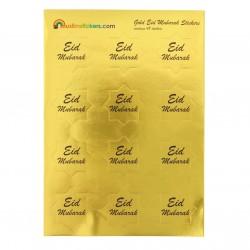 Eid Mubarak stickers goud