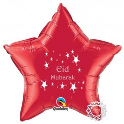 Eid Mubarak folie ballon ster rood