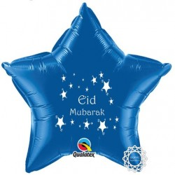 Eid Mubarak folie ballon ster blauw
