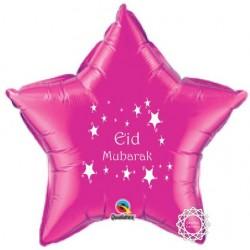 Eid Mubarak folie ballon ster roze