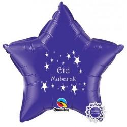Eid Mubarak folie ballon ster paars