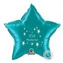 Eid Mubarak folie ballon ster appelblauwzeegroen