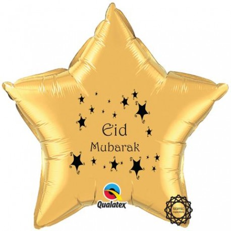 Eid Mubarak folie ballon ster goud