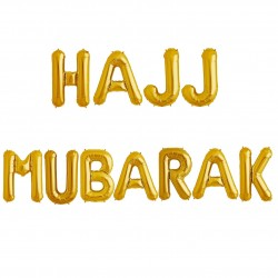Hajj Mubarak folie letters ballonnen