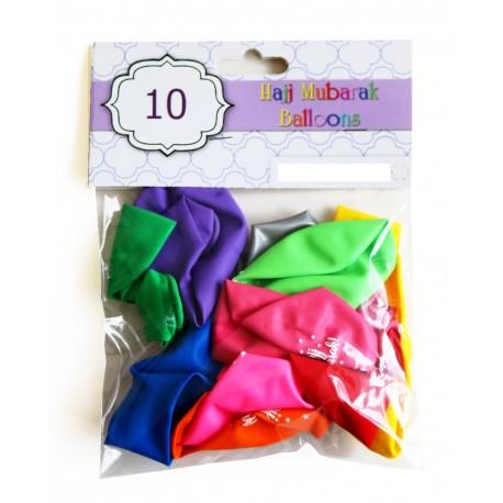Hajj Mubarak ballonnen kleur