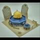 Rotskoepelmoskee Al Quds 3D puzzel