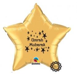 Umrah Mubarak folie ballon ster goud