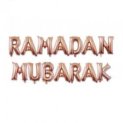 Ramadan Mubarak folie ballon rosé