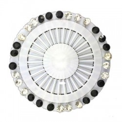 Hijab luxe pins zwart-wit