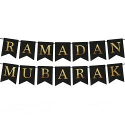 Ramadan vlaggenlijn goud/zwart