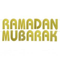Ramadan Mubarak letterslinger goud