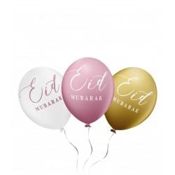 Eid Mubarak ballonnen oudroze