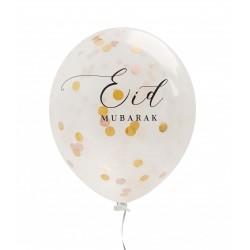 Eid Mubarak confetti ballonnen oudroze