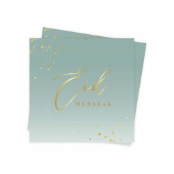 Eid Mubarak servietten mintgroen