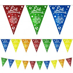 Eid Mubarak vlaggenlijn multicolor