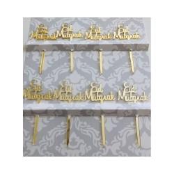 Eid Mubarak cupcake prikkers goud
