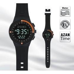 Adhan horloge zwart