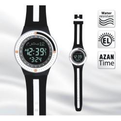 Adhan horloge zwart-wit