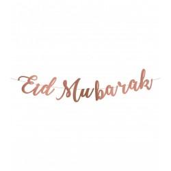 Eid Mubarak letterslinger rosé goud